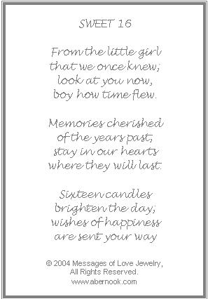 16th birthday cards for girls birthday poems verses quotes free to use online printable 16th birthday bookmarktalkfo Choice Image
